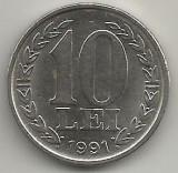 ROMANIA   10  LEI  1991    [1]   XF  ,   livrare  in cartonas, Fier