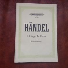 Partitura - Handel / Te deum laudamus - 86 pagin !!!