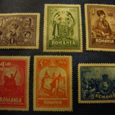 ROMANIA 1929 10 ANI DE LA UNIREA TRANSILVANIEI - URME SARNIERA - Timbre Romania, Nestampilat