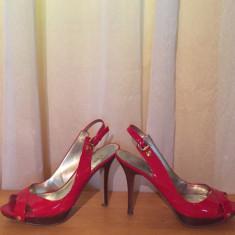 Sandale - Sandale dama Guess, Culoare: Rosu, Marime: 37