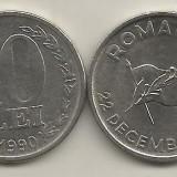 ROMANIA 10 LEI 1990 [1] XF, Livrare in cartonas - Moneda Romania, Fier