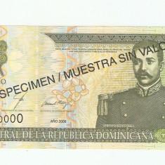 REPUBLICA DOMINICANA 10 PESOS ORO / 2000 - SPECIMEN . UNC. - bancnota america
