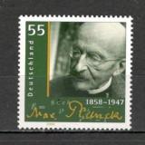 Germania.2008 150 ani nastere M.Planck-fizician PREMIUL NOBEL SG.1327 - Timbre straine, Nestampilat