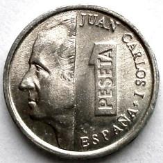 SPANIA, JUAN CARLOS I, 1 PESETA 1995, Europa, Aluminiu