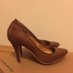 Pantofi maro Zara - Pantof dama Zara, Marime: 37