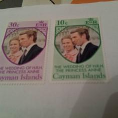 Anglia/colonii/cayman 1977-81 nunta regala/ 2 serii MNH - Timbre straine, Nestampilat