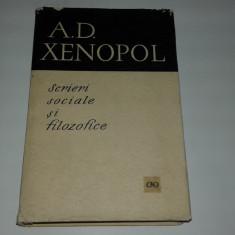 A.D.XENOPOL - SCRIERI SOCIALE SI FILOZOFICE, A.D. Xenopol