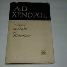 A.D.XENOPOL - SCRIERI SOCIALE SI FILOZOFICE - Filosofie