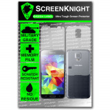 Screenknight Husa Spate Samsung S5 Folie Silicon Militar Antishock Antiderapant