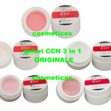Set 5 geluri uv CCN ORIGINALE 3in1 | Gel white/ transparent/pink/cover- pensule
