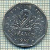 9459 MONEDA- FRANTA - 2 FRANCS -anul 1981 -starea care se vede, Europa