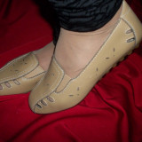 Balerin cu perforatii, nuanta de maro, elastic chic (Culoare: MARO, Marime: 39)