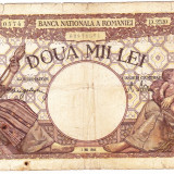 Bancnota 2000 lei 2 mai 1944 filigran BNR - Bancnota romaneasca