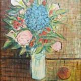 R. Iosif * Ulei pe panza * Dimensiuni 45 x 52 cm - Pictor roman, Flori, Altul