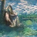 TARANCA LANGA LAC - Pictor roman, Peisaje, Acuarela, Impresionism
