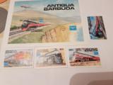 Anglia/colonii/antigua 1986 locomotive/ serie si colita MNH, Nestampilat