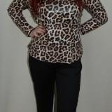 Pantalon simplu, nuanta de negru, design interesant aplicat (Culoare: NEGRU, Marime: 50) - Pantaloni dama