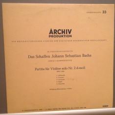 J.S.BACH - PARTITA FOR VIOLIN NR.2 (1961/ARCHIV REC/Germany) - VINIL/Ca Nou/RAR - Muzica Clasica universal records