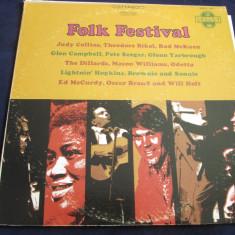 Various - Folk Festival _ vinyl, LP, compilatie _ Elektra (SUA) - Muzica Folk Altele, VINIL