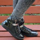 Pantof confortabil de zi, model sport, talpa joasa, nuanta neagra (Culoare: NEGRU, Marime: 37) - Pantofi barbat