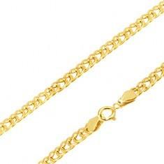 Lanț din aur - zale eliptice late și strălucitoare, 450 mm - Lantisor aur