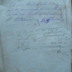 Document din 1877, scris olograf