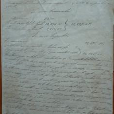 Raportul olograf al Gen. Bengescu din 1896 catre Ministrul de Razboi, 12 pagini