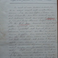 Duplicatul actului de vanzare a 2 mosii de George Bibescu catre Obrenovici, 1907 - Autograf