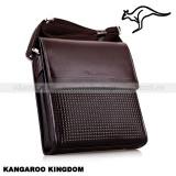 KANGAROO KINGDOM - Geanta de umar  business lux din piele, Maro