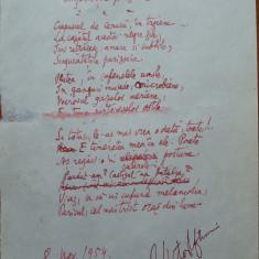 Poezie de Victor Eftimiu ; Singuratatile pariziene, 1954, mason, aroman - Autograf