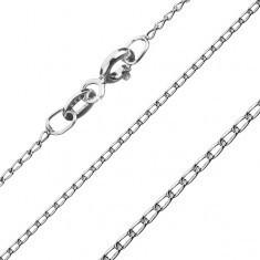 Lănțișor din argint - cu zale rotunde alungite, 1 mm - Lantisor argint