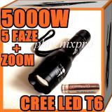 LANTERNA TELESCOPICA CREE LED T6 5000W