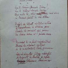 Poezie in manuscris, Victor Eftimiu ; Iancu Jianu, 1954, mason, aroman - Autograf