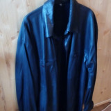 Camasa piele naturala neagra - Camasa barbati, Marime: 54, Culoare: Negru
