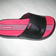 Papuci-slapi de plaja WINK;cod ST6448-1(negru);-2(ciclam);marime:30-35