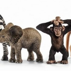 Set Schleich - Animale Salbatice - Set De Incepatori - Sl42387 - Figurina Animale