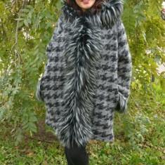 Jacheta de toamna, nuanta de gri, din lana cu captuseala subtire (Culoare: GRI, Marime: 52) - Jacheta dama