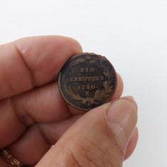 Moneda de 1 kreuzer 1780,litera K.Reducere!