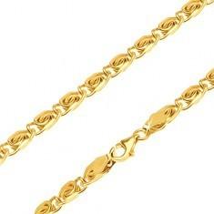 Lanț din aur - zale strălucitoare cu model