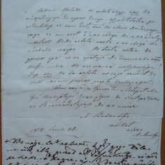 Scrisoare din 1852 provenind din Transilvania