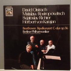 BEETHOVEN - TRIPLE CONCERT:S.RICHTER/D.OISTRACH....(1970/EMI/RFG) - VINIL/Ca NOU - Muzica Clasica emi records