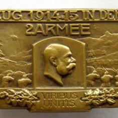 X818 Insigna Austria WW1 Campania de iarna in Carpati 1914 1915 armata a 2-a, Europa