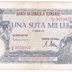 Bancnota 100000 lei 1946 21 octombrie - Bancnota romaneasca
