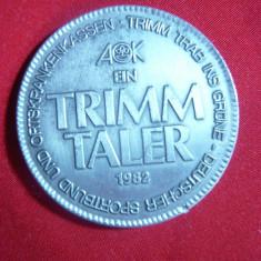 Trimm Taler 1982 ,metal alb Germania