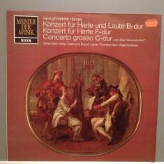 HANDEL - CONCERT FOR HARPE, LAUTE...(1960/DECCA REC/RFG) - VINIL/RAR/Ca NOU - Muzica Clasica decca classics