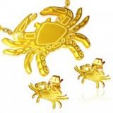 Set auriu din oțel - cercei cu șurub și pandantiv, rac - Pandantiv inox