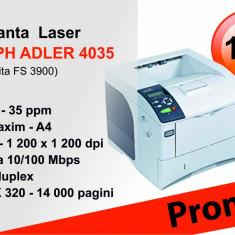 Imprimanta laser Triumph Adler 4035 (Kyocera Mita FS 3900) - Imprimanta laser alb negru Kyocera, DPI: 1200, A4, 35-39 ppm