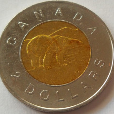 Moneda bimetal 2 Dolari - CANADA, anul 1996 *cod 4298, America de Nord