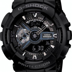 CASIO G-SHOCK GA-110 ALL BLACK, POZE REALE !!! MODEL NOU BACKLIGHT !! REDUS !! - Ceas barbatesc Casio, Sport, Quartz, Cauciuc, Alarma, Analog & digital