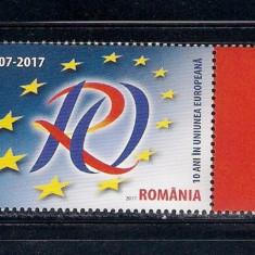 ROMANIA 2017 - 10 ANI IN UE- LP 2133 - Timbre Romania, Nestampilat